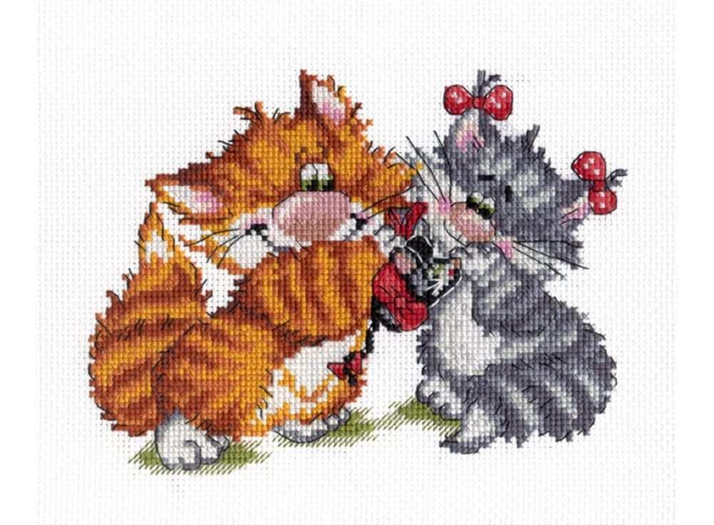 Набор для вышивания «Рыжий кот. Подарок»Вышивка крестом МП-студия<br><br><br>Артикул: НВ-350<br>Основа: канва Aida 14<br>Размер: 15х20 см<br>Техника вышивки: счетный крест<br>Тип схемы вышивки: Цветная схема<br>Цвет канвы: Белый<br>Количество цветов: 16<br>Рисунок на канве: не нанесён<br>Техника: Вышивка крестом