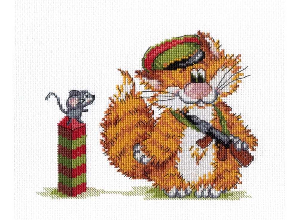 Набор для вышивания «Рыжий кот. Пограничник»Вышивка крестом МП-студия<br><br><br>Артикул: НВ-354<br>Основа: канва Aida 14<br>Размер: 15х20 см<br>Техника вышивки: счетный крест<br>Тип схемы вышивки: Цветная схема<br>Цвет канвы: Белый<br>Количество цветов: 15<br>Рисунок на канве: не нанесён<br>Техника: Вышивка крестом