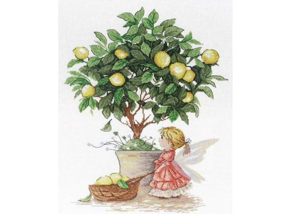 Купить Вышивка крестом, Набор для вышивания «Лимонная фея», МП-студия, 35x30 см, НВ-547