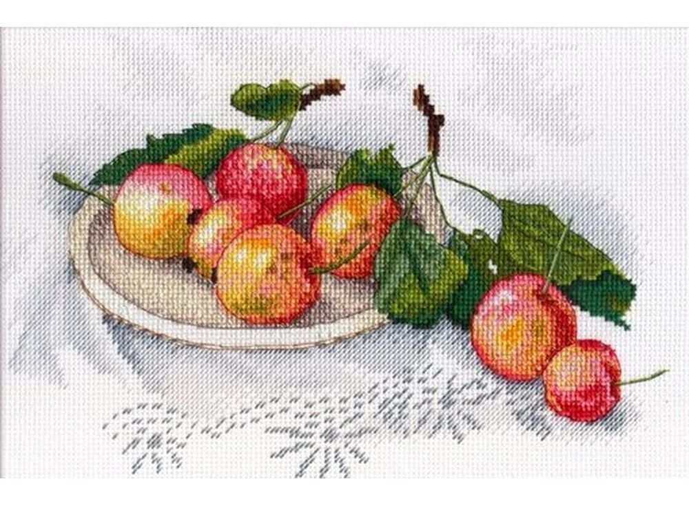 Набор для вышивания «Вкус диких яблок»Вышивка крестом МП-студия<br><br><br>Артикул: НВ-559<br>Основа: канва Aida 14<br>Размер: 18х26 см<br>Техника вышивки: счетный крест<br>Тип схемы вышивки: Цветная схема<br>Цвет канвы: Белый<br>Количество цветов: 29<br>Рисунок на канве: не нанесён<br>Техника: Вышивка крестом