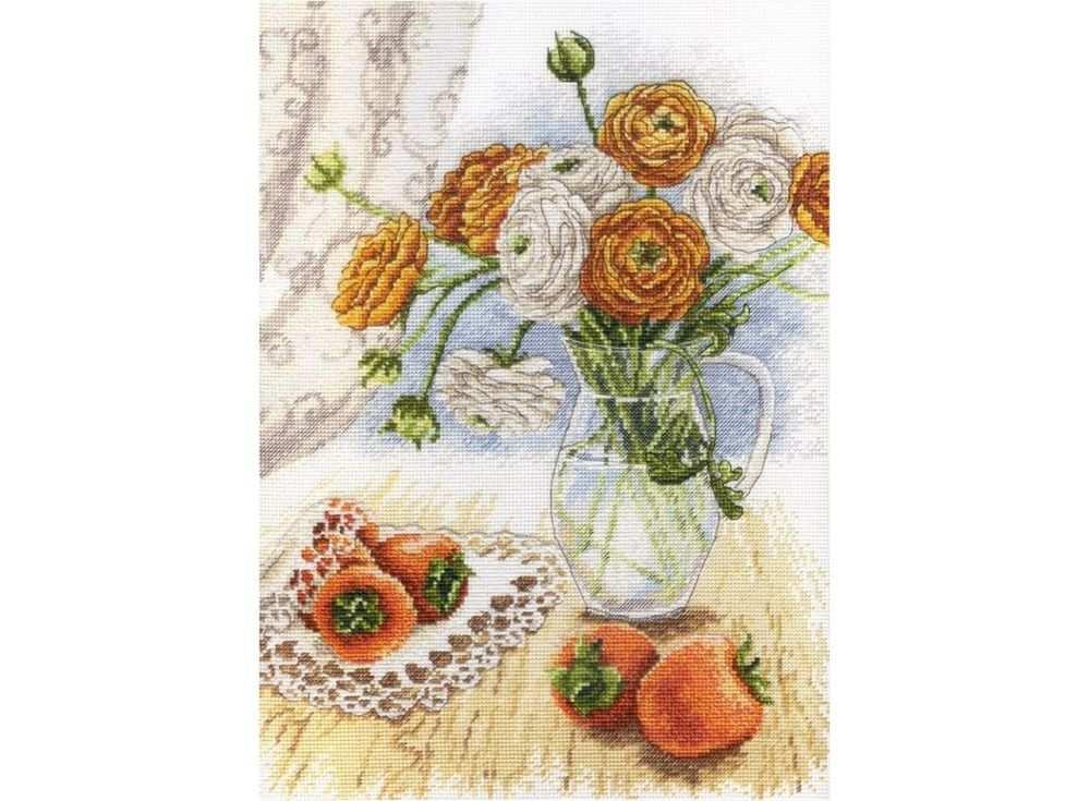 Набор для вышивания «Букет садовых лютиков»Вышивка крестом МП-студия<br><br><br>Артикул: НВ-597<br>Основа: канва Aida 18<br>Размер: 29x21 см<br>Техника вышивки: счетный крест<br>Тип схемы вышивки: Цветная схема<br>Цвет канвы: Белый<br>Количество цветов: 24<br>Рисунок на канве: не нанесён<br>Техника: Вышивка крестом