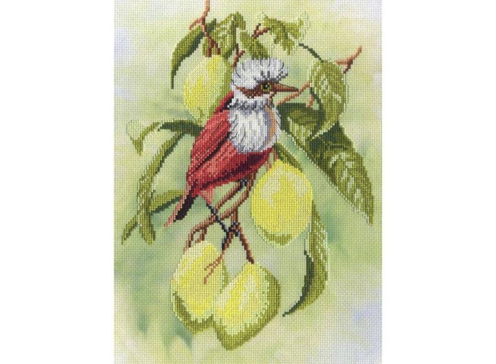 Набор для вышивания «Птичка на ветке лимона»Вышивка крестом МП-студия<br><br><br>Артикул: РК-301<br>Основа: канва Aida 14<br>Размер: 30х22 см<br>Техника вышивки: счетный крест<br>Тип схемы вышивки: Цветная схема<br>Количество цветов: 22<br>Рисунок на канве: тонированная канва с нанесённым фоном<br>Техника: Вышивка крестом