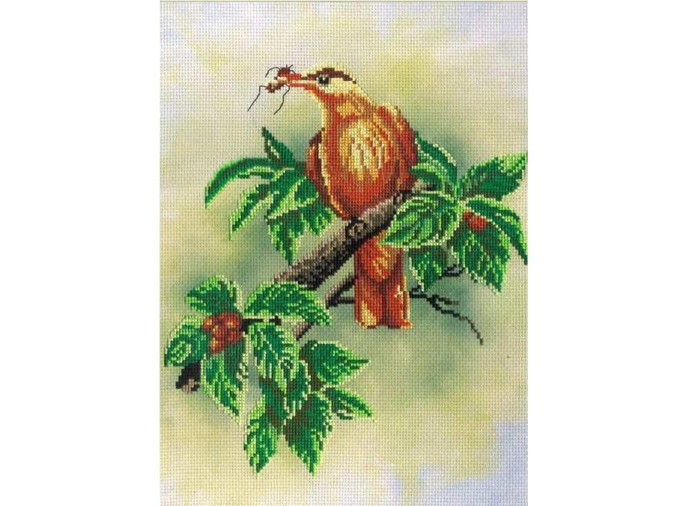 Набор для вышивания «Птичка с ягодами»Вышивка крестом МП-студия<br><br><br>Артикул: РК-309<br>Основа: канва Aida 14<br>Размер: 20x30 см<br>Техника вышивки: счетный крест<br>Тип схемы вышивки: Цветная схема<br>Количество цветов: 17<br>Рисунок на канве: тонированная канва с нанесённым фоном<br>Техника: Вышивка крестом