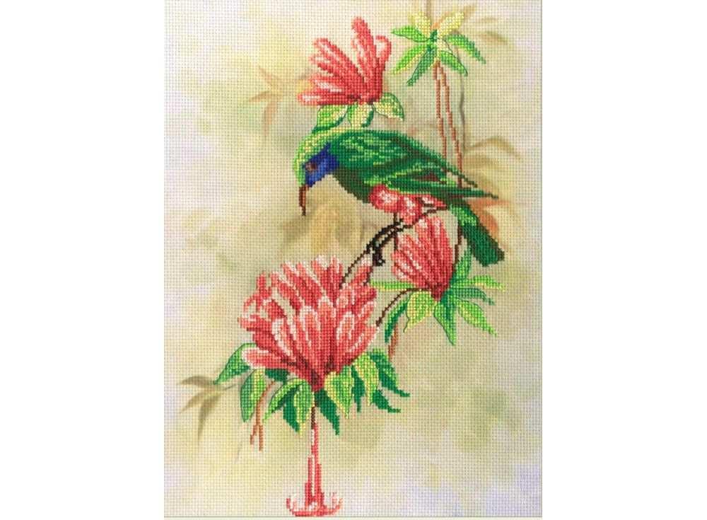 Набор для вышивания «Птичка с цветами»Вышивка крестом МП-студия<br><br><br>Артикул: РК-310<br>Основа: канва Aida 14<br>Размер: 30х22 см<br>Техника вышивки: счетный крест<br>Тип схемы вышивки: Цветная схема<br>Количество цветов: 16<br>Рисунок на канве: тонированная канва с нанесённым фоном<br>Техника: Вышивка крестом