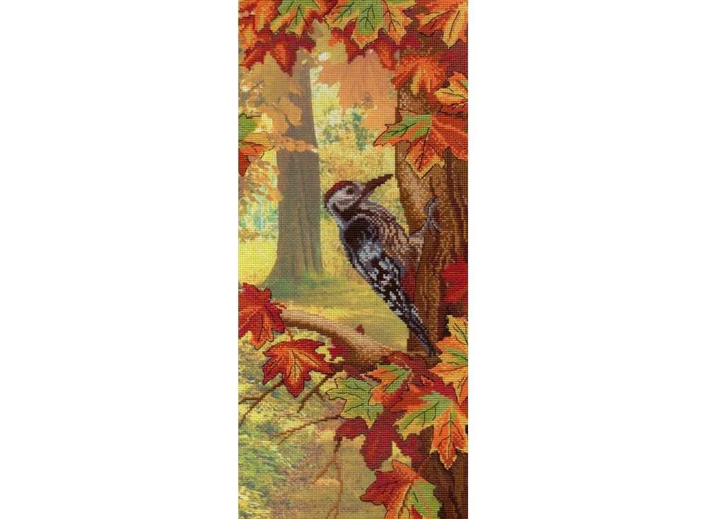 Набор для вышивания «Осень»Вышивка крестом МП-студия<br><br><br>Артикул: РК-330<br>Основа: канва Aida 14<br>Размер: 44х20 см<br>Техника вышивки: счетный крест<br>Тип схемы вышивки: Цветная схема<br>Количество цветов: 19<br>Рисунок на канве: тонированная канва с нанесённым фоном<br>Техника: Вышивка крестом