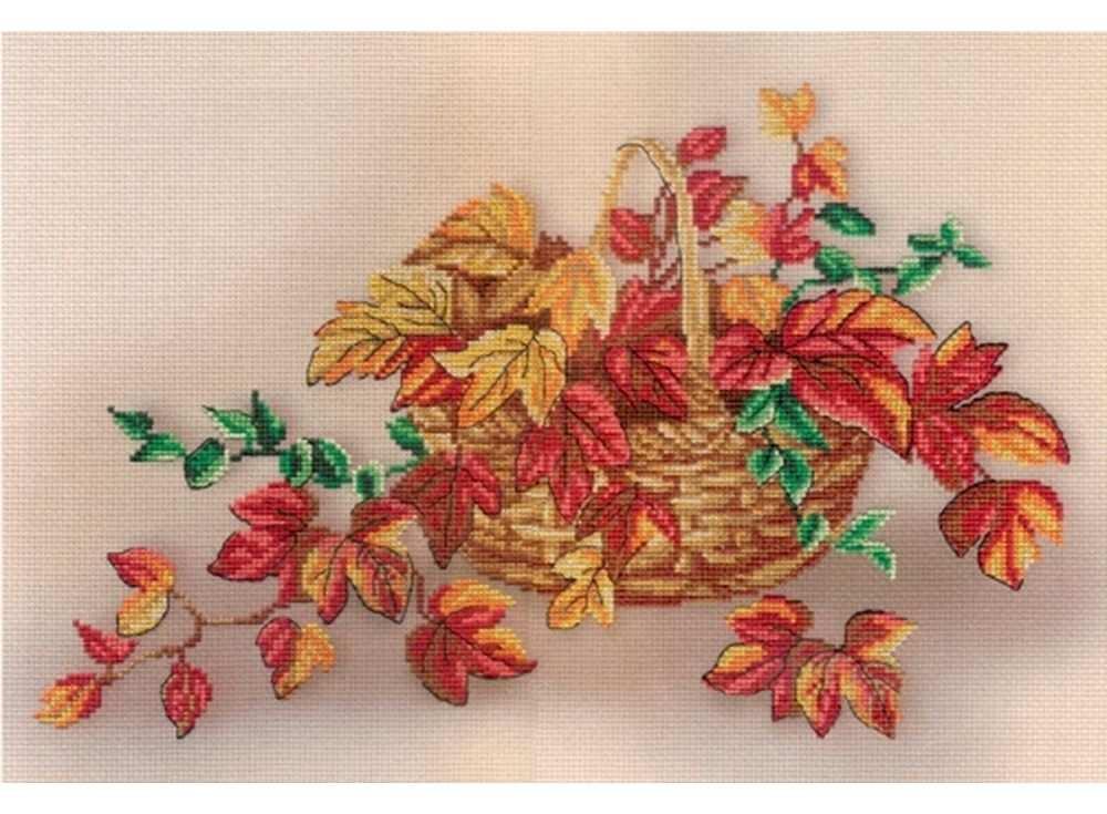 Набор дл вышивани «Натрморт с листьми»Вышивка крестом МП-студи<br><br><br>Артикул: РК-336<br>Основа: канва Aida 14<br>Размер: 25х35 см<br>Техника вышивки: счетный крест<br>Тип схемы вышивки: Цветна схема<br>Количество цветов: 15<br>Рисунок на канве: тонированна канва с нанесённым фоном<br>Техника: Вышивка крестом