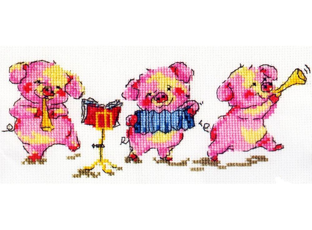 Набор для вышивания «Трио»Вышивка крестом Алиса<br><br><br>Артикул: 0-10<br>Основа: канва Aida 14 100% хлопок Gamma<br>Размер: 20x12 см<br>Тип схемы вышивки: Цветная схема<br>Цвет канвы: Белый<br>Количество цветов: 11<br>Рисунок на канве: не нанесён<br>Техника: Вышивка крестом<br>Нитки: мулине 100% хлопок Gamma