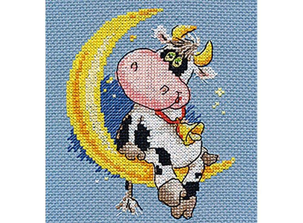 Набор для вышивания «Сладких снов»Вышивка крестом Алиса<br><br><br>Артикул: 0-117<br>Основа: канва Aida 14 100% хлопок Gamma<br>Размер: 10x13 см<br>Тип схемы вышивки: Цветная схема<br>Цвет канвы: Синий<br>Количество цветов: 13<br>Рисунок на канве: не нанесён<br>Техника: Вышивка крестом<br>Нитки: мулине 100% хлопок Gamma