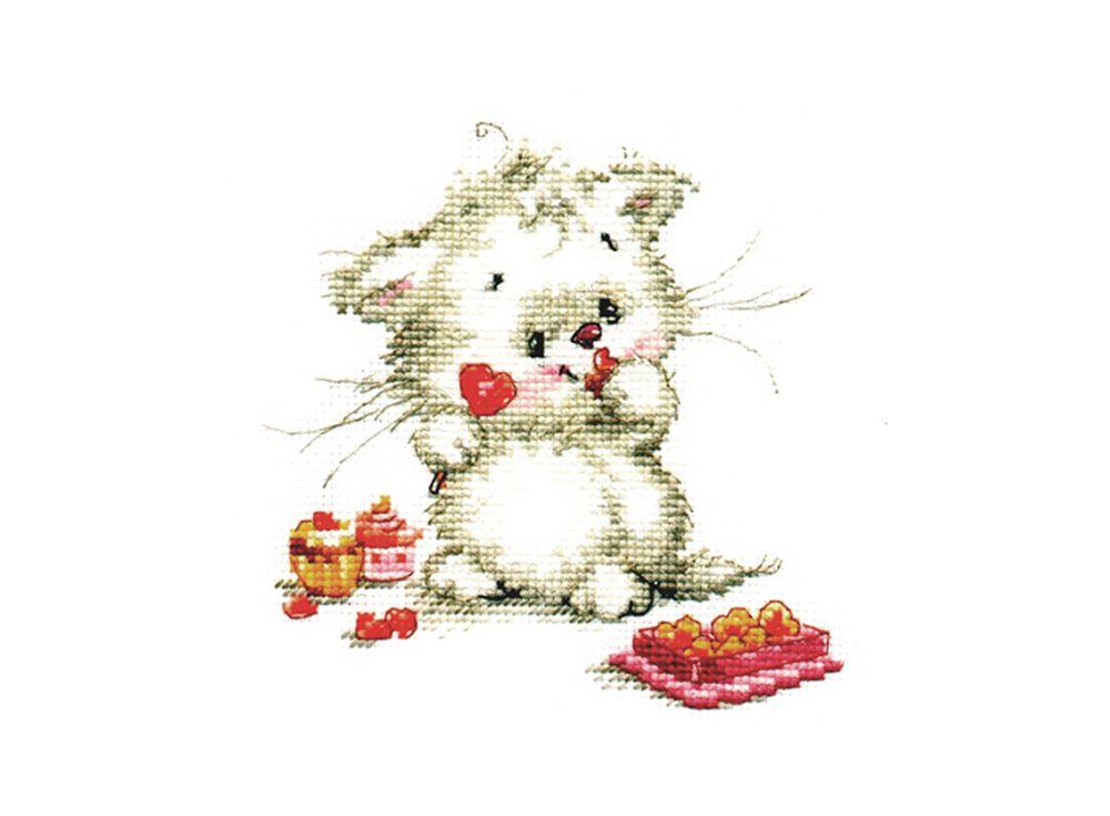 Набор для вышивания «Сладкая конфетка»Вышивка крестом Алиса<br><br><br>Артикул: 0-123<br>Основа: канва Aida 14 100% хлопок Gamma<br>Размер: 13х13 см<br>Тип схемы вышивки: Цветная схема<br>Цвет канвы: Белый<br>Количество цветов: 16<br>Рисунок на канве: не нанесён<br>Техника: Вышивка крестом<br>Нитки: мулине 100% хлопок Gamma