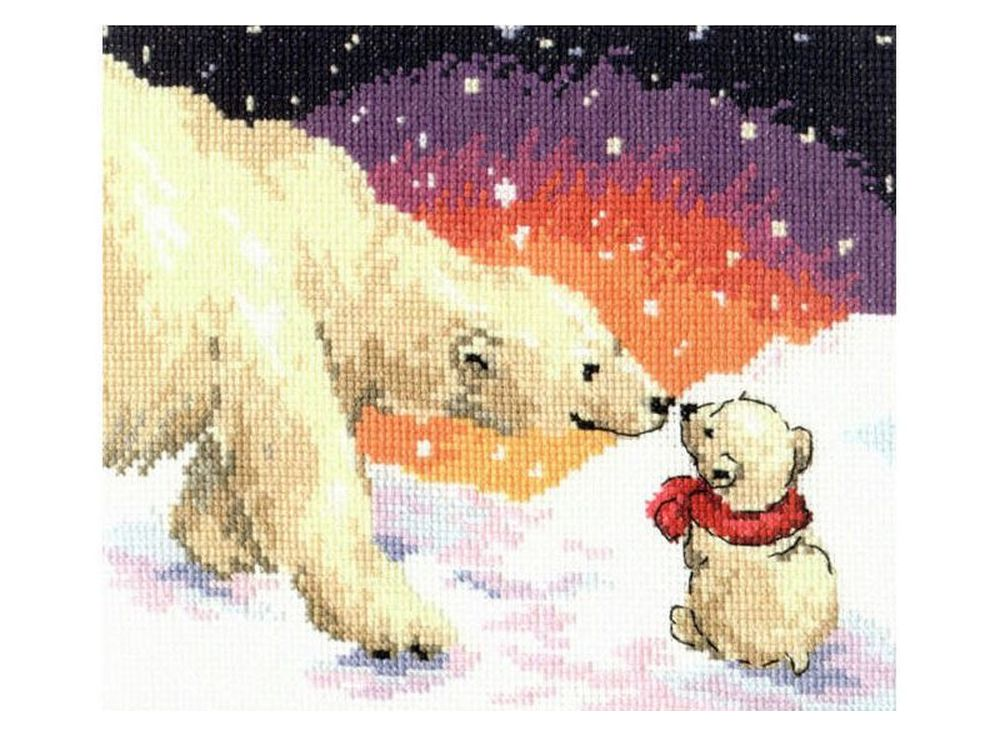 Набор дл вышивани «Белые медведи»Вышивка крестом Алиса<br><br><br>Артикул: 0-26<br>Основа: канва Aida 14 100% хлопок Gamma<br>Размер: 20х16 см<br>Тип схемы вышивки: Цветна схема<br>Цвет канвы: Белый<br>Количество цветов: 20<br>Рисунок на канве: не нанесён<br>Нитки: мулине 100% хлопок Gamma