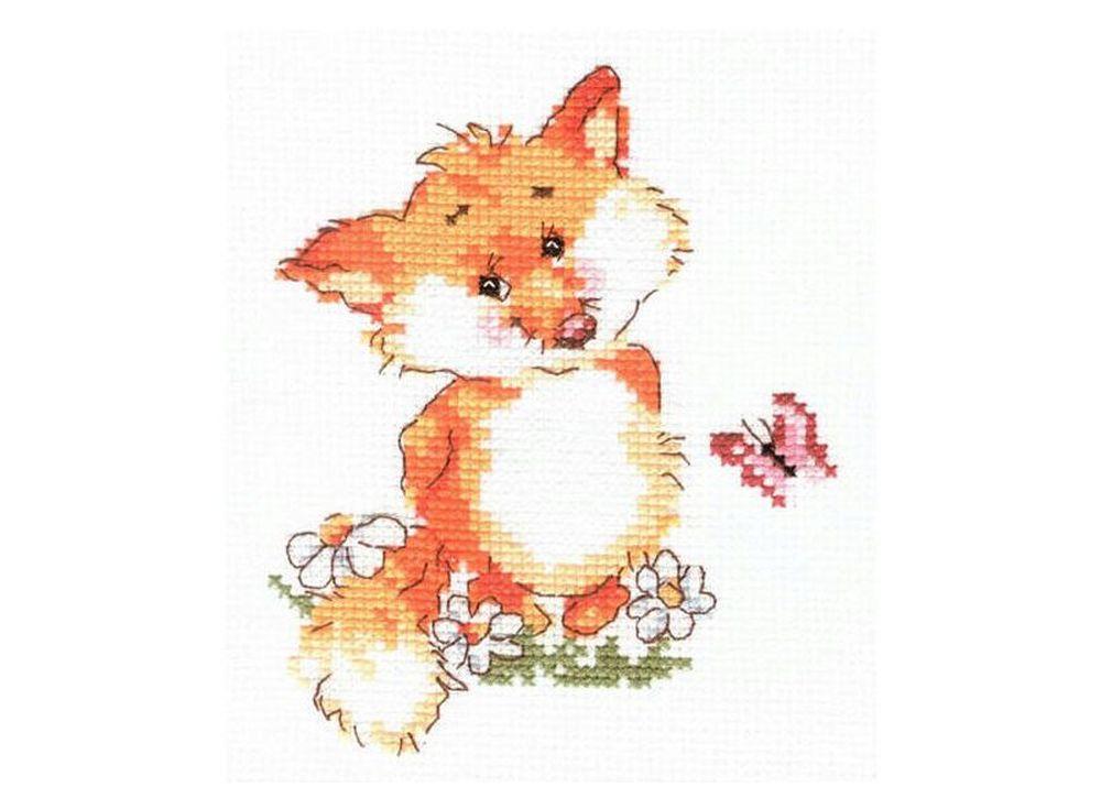 Набор для вышивания «Лисенок»Вышивка крестом Алиса<br><br><br>Артикул: 0-33<br>Основа: канва Aida 14 100% хлопок Gamma<br>Размер: 10х13 см<br>Тип схемы вышивки: Цветная схема<br>Цвет канвы: Белый<br>Количество цветов: 12<br>Рисунок на канве: не нанесён<br>Нитки: мулине 100% хлопок Gamma