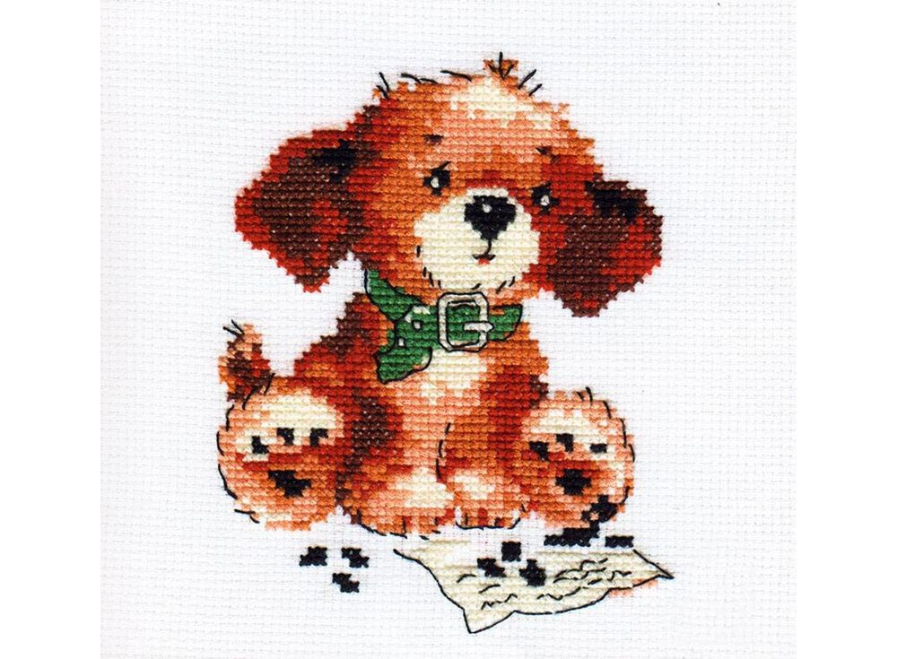 Набор для вышивания «Тоша»Вышивка крестом Алиса<br><br><br>Артикул: 0-37<br>Основа: канва Aida 14 100% хлопок Gamma<br>Размер: 10х13 см<br>Тип схемы вышивки: Цветная схема<br>Цвет канвы: Белый<br>Количество цветов: 7<br>Рисунок на канве: не нанесён<br>Техника: Вышивка крестом<br>Нитки: мулине 100% хлопок Gamma