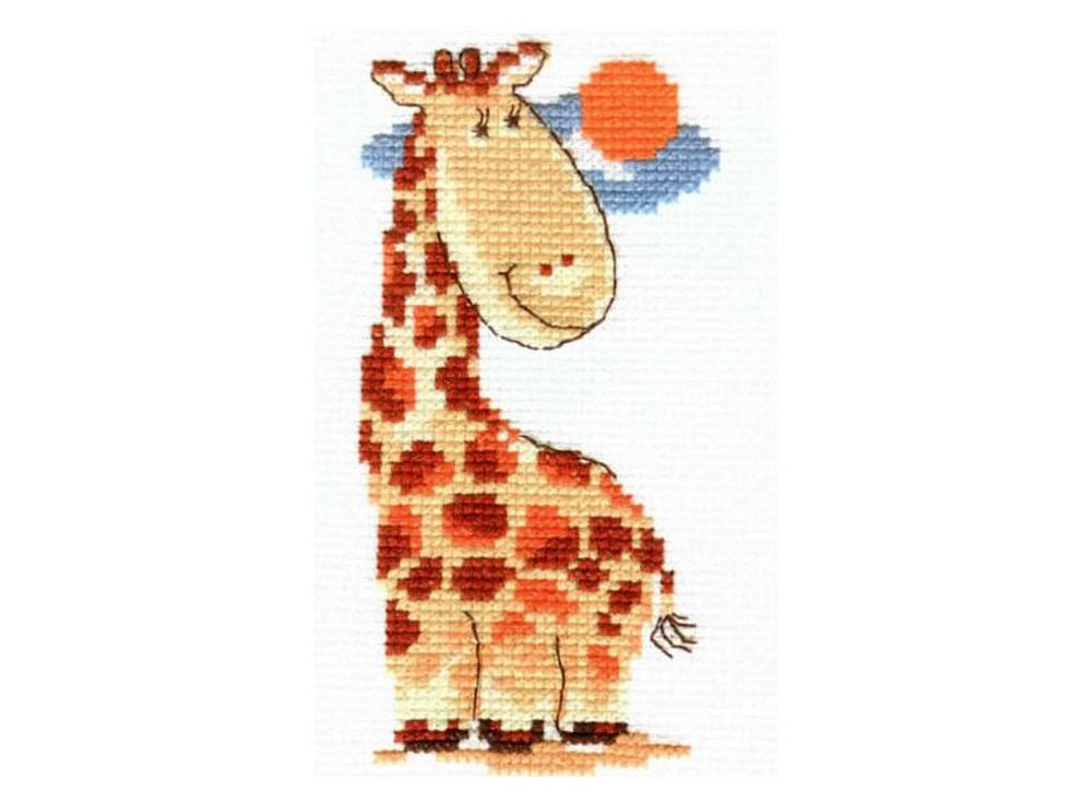 Набор для вышивания «Жирафик»Вышивка крестом Алиса<br><br><br>Артикул: 0-39<br>Основа: канва Aida 14 100% хлопок Gamma<br>Размер: 7x13 см<br>Тип схемы вышивки: Цветная схема<br>Цвет канвы: Белый<br>Количество цветов: 9<br>Рисунок на канве: не нанесён<br>Техника: Вышивка крестом<br>Нитки: мулине 100% хлопок Gamma