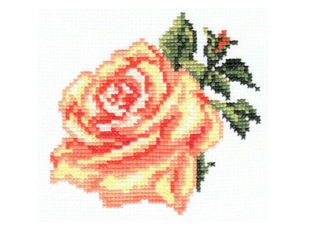 Набор для вышивания «Роза»Вышивка крестом Алиса<br><br><br>Артикул: 0-41<br>Основа: канва Aida 14 100% хлопок Gamma<br>Размер: 10x10 см<br>Тип схемы вышивки: Цветная схема<br>Цвет канвы: Белый<br>Количество цветов: 9<br>Рисунок на канве: не нанесён<br>Техника: Вышивка крестом<br>Нитки: мулине 100% хлопок Gamma