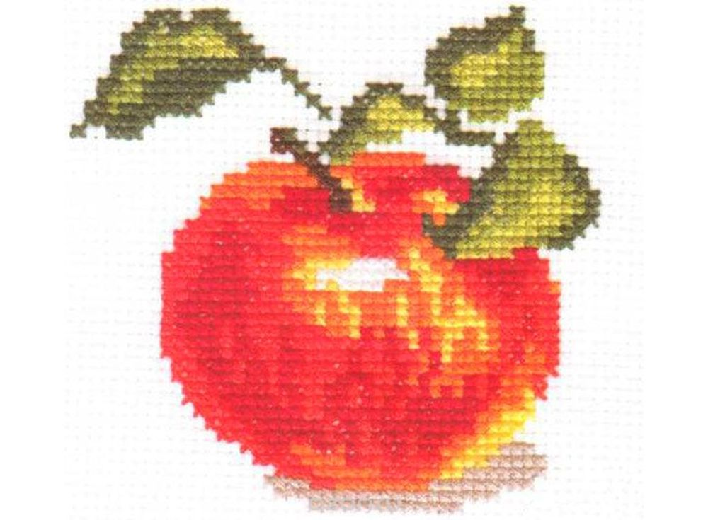 Набор для вышивания «Яблочко»Вышивка крестом Алиса<br><br><br>Артикул: 0-49<br>Основа: канва Aida 14 100% хлопок Gamma<br>Размер: 8х8 см<br>Тип схемы вышивки: Цветная схема<br>Цвет канвы: Белый<br>Количество цветов: 10<br>Рисунок на канве: не нанесён<br>Техника: Вышивка крестом<br>Нитки: мулине 100% хлопок Gamma