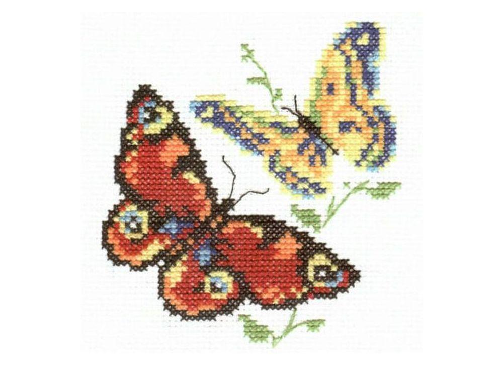 Набор для вышивания «Бабочки-красавицы»Вышивка крестом Алиса<br><br><br>Артикул: 0-50<br>Основа: канва Aida 14 100% хлопок Gamma<br>Размер: 10x11 см<br>Тип схемы вышивки: Цветная схема<br>Цвет канвы: Белый<br>Количество цветов: 9<br>Рисунок на канве: не нанесён<br>Техника: Вышивка крестом<br>Нитки: мулине 100% хлопок Gamma
