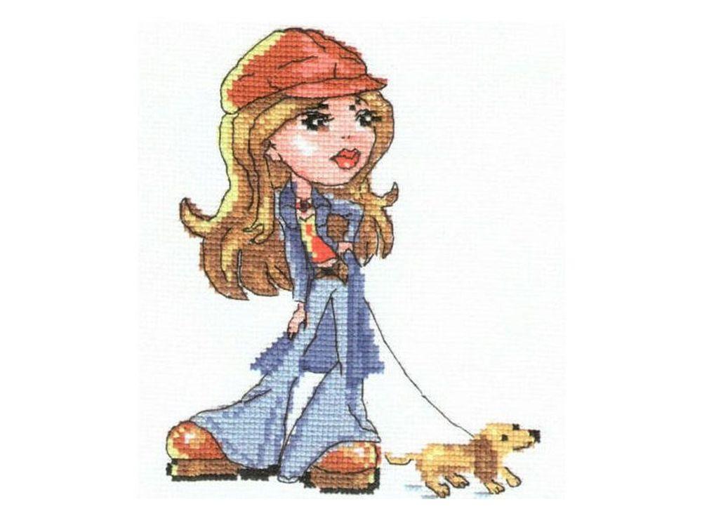 Набор для вышивания «Леди Джинс»Вышивка крестом Алиса<br><br><br>Артикул: 0-54<br>Основа: канва Aida 14 100% хлопок Gamma<br>Тип схемы вышивки: Цветная схема вышивки<br>Цвет канвы: Белый<br>Количество цветов: 14