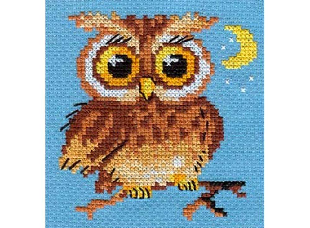 Набор для вышивания «Совенок»Вышивка крестом Алиса<br><br><br>Артикул: 0-56<br>Основа: канва Aida 14 100% хлопок Gamma<br>Размер: 10x10 см<br>Тип схемы вышивки: Цветная схема<br>Цвет канвы: Синий<br>Количество цветов: 8<br>Рисунок на канве: не нанесён<br>Техника: Вышивка крестом<br>Нитки: мулине 100% хлопок Gamma
