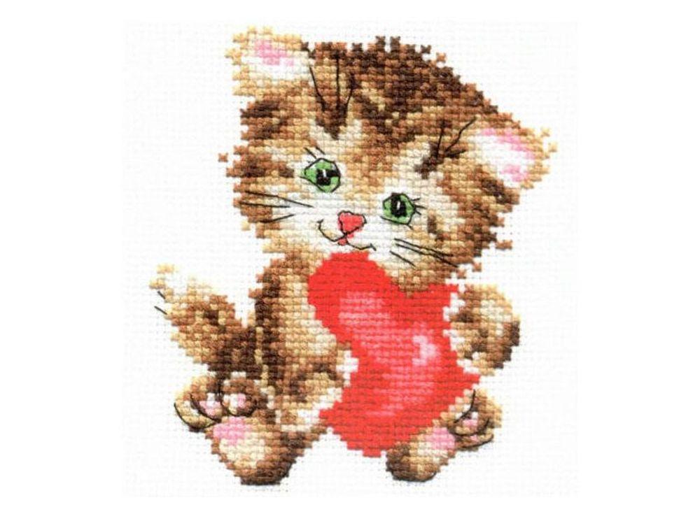 Набор для вышивания «Любимая киска»Вышивка крестом Алиса<br><br><br>Артикул: 0-61<br>Основа: канва Aida 14 100% хлопок Gamma<br>Размер: 10х11 см<br>Тип схемы вышивки: Цветная схема<br>Цвет канвы: Белый<br>Количество цветов: 10<br>Рисунок на канве: не нанесён<br>Техника: Вышивка крестом<br>Нитки: мулине 100% хлопок Gamma