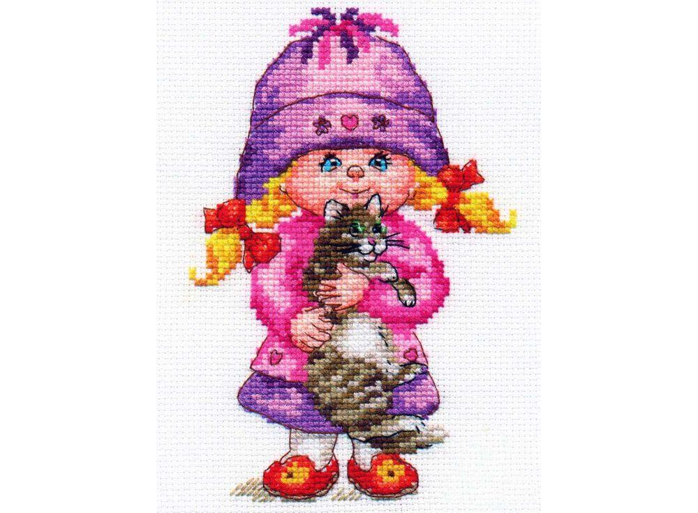 Набор для вышивания «Дашенька»Вышивка крестом Алиса<br><br><br>Артикул: 0-64<br>Основа: канва Aida 14 100% хлопок Gamma<br>Размер: 11х16 см<br>Тип схемы вышивки: Цветная схема<br>Цвет канвы: Белый<br>Количество цветов: 24<br>Рисунок на канве: не нанесён<br>Нитки: мулине 100% хлопок Gamma