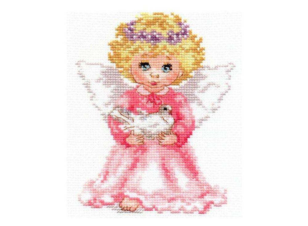 Набор для вышивания «Ангелочек»Вышивка крестом Алиса<br><br><br>Артикул: 0-65<br>Основа: канва Aida 14 100% хлопок Gamma<br>Размер: 12x14 см<br>Тип схемы вышивки: Цветная схема<br>Цвет канвы: Белый<br>Количество цветов: 19<br>Рисунок на канве: не нанесён<br>Техника: Вышивка крестом<br>Нитки: мулине 100% хлопок Gamma