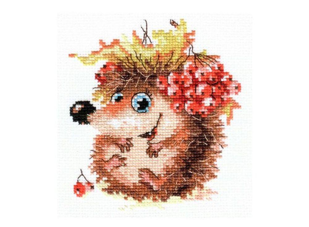 Набор для вышивания «Осенний ежонок»Вышивка крестом Алиса<br><br><br>Артикул: 0-75<br>Основа: канва Aida 14 100% хлопок Gamma<br>Размер: 11x12 см<br>Тип схемы вышивки: Цветная схема<br>Цвет канвы: Белый<br>Количество цветов: 15<br>Рисунок на канве: не нанесён<br>Техника: Вышивка крестом<br>Нитки: мулине 100% хлопок Gamma