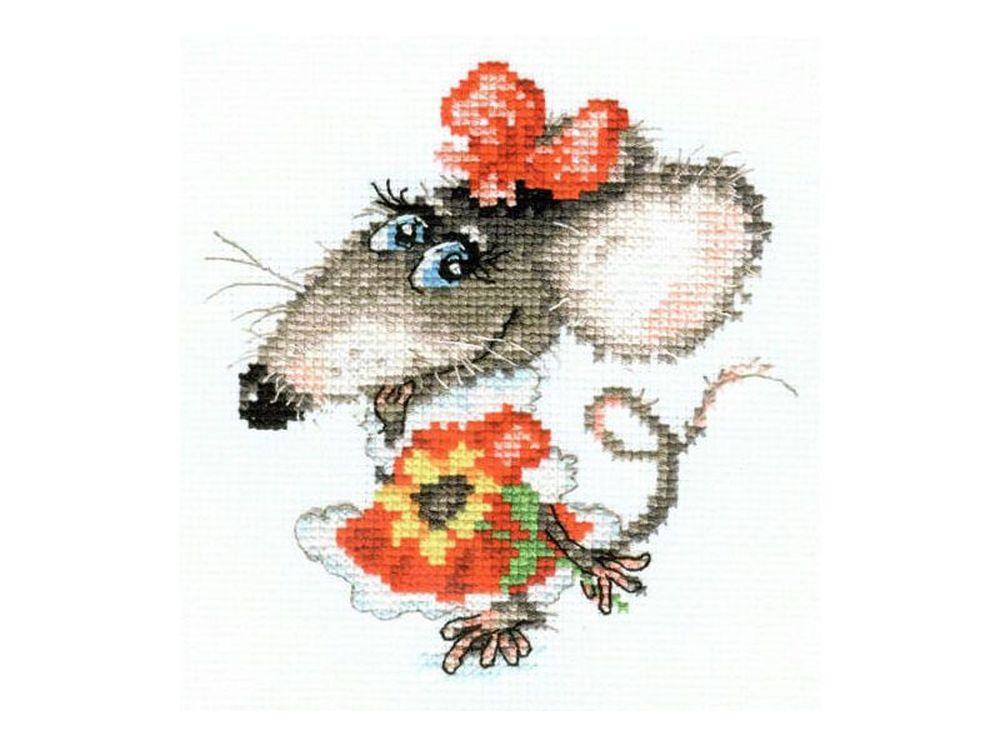 Набор для вышивания «Мышуля»Вышивка крестом Алиса<br><br><br>Артикул: 0-76<br>Основа: канва Aida 14 100% хлопок Gamma<br>Размер: 12x13 см<br>Тип схемы вышивки: Цветная схема<br>Цвет канвы: Белый<br>Количество цветов: 17<br>Рисунок на канве: не нанесён<br>Техника: Вышивка крестом<br>Нитки: мулине 100% хлопок Gamma