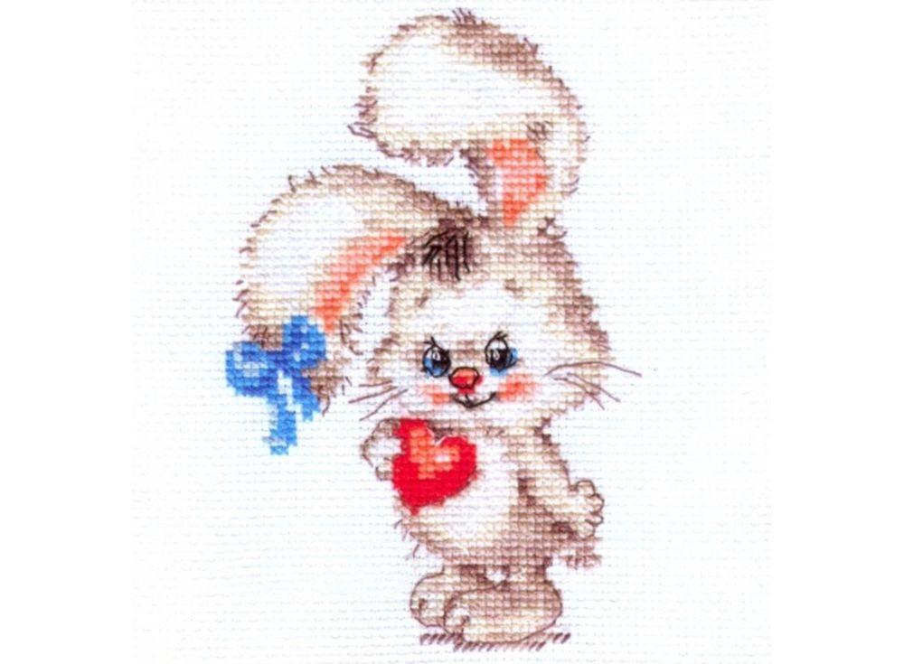 Набор для вышивания «Моей зайке»Вышивка крестом Алиса<br><br><br>Артикул: 0-78<br>Основа: канва Aida 14 100% хлопок Gamma<br>Размер: 9х13 см<br>Тип схемы вышивки: Цветная схема<br>Цвет канвы: Белый<br>Количество цветов: 12<br>Рисунок на канве: не нанесён<br>Техника: Вышивка крестом<br>Нитки: мулине 100% хлопок Gamma