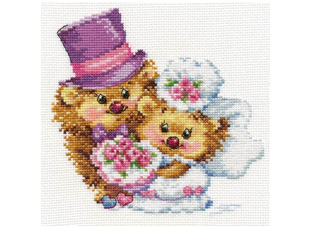 Набор для вышивания «Навсегда!»Вышивка крестом Алиса<br><br><br>Артикул: 0-88<br>Основа: канва Aida 14 100% хлопок Gamma<br>Размер: 16х15 см<br>Тип схемы вышивки: Цветная схема вышивки<br>Цвет канвы: Белый<br>Количество цветов: 24