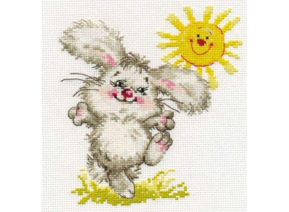 Набор для вышивания «Самый солнечный день!»Вышивка крестом Алиса<br><br><br>Артикул: 0-90<br>Основа: канва Aida 14 100% хлопок Gamma<br>Размер: 15х16 см<br>Тип схемы вышивки: Цветная схема<br>Цвет канвы: Белый<br>Количество цветов: 14<br>Рисунок на канве: не нанесён<br>Техника: Вышивка крестом<br>Нитки: мулине 100% хлопок Gamma