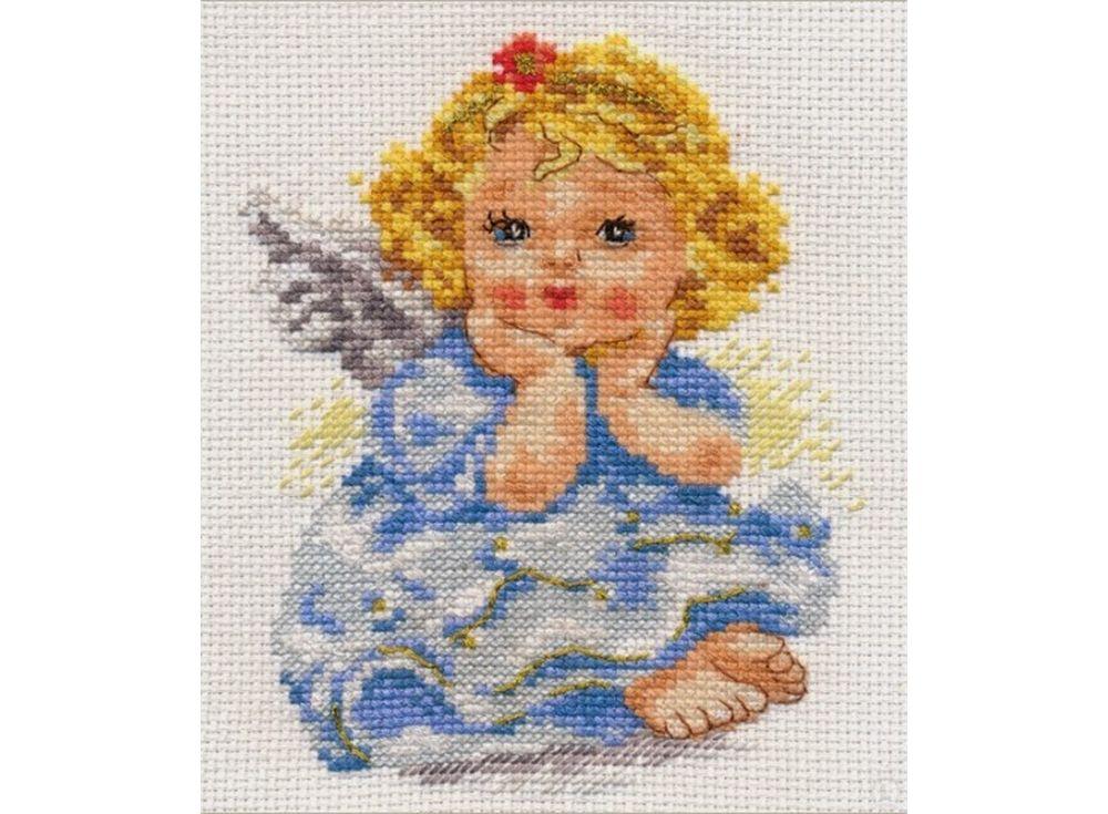 Набор для вышивания «Ангелочек мечты»Вышивка крестом Алиса<br><br><br>Артикул: 0-94<br>Основа: канва Aida 14 100% хлопок Gamma<br>Размер: 11х14 см<br>Тип схемы вышивки: Цветная схема<br>Цвет канвы: Белый<br>Количество цветов: 19<br>Рисунок на канве: не нанесён<br>Техника: Вышивка крестом<br>Нитки: мулине 100% хлопок Gamma