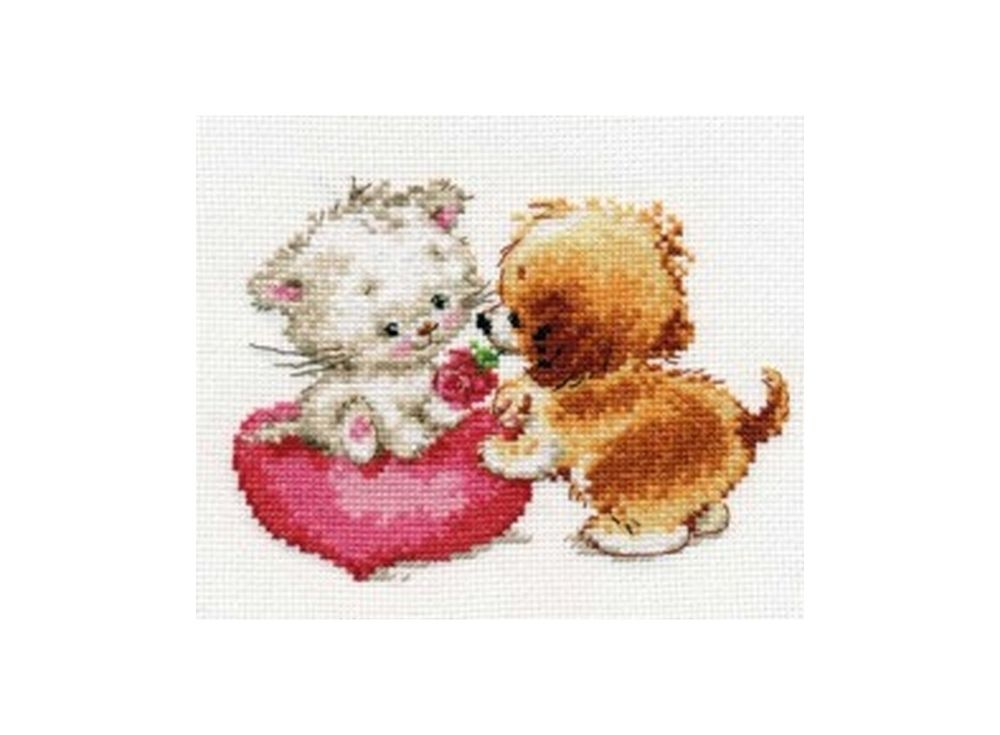 Набор для вышивания «Ты мне нравишься»Вышивка крестом Алиса<br><br><br>Артикул: 0-99<br>Основа: канва Aida 14 100% хлопок Gamma<br>Размер: 15х11 см<br>Тип схемы вышивки: Цветная схема вышивки<br>Цвет канвы: Белый<br>Количество цветов: 18