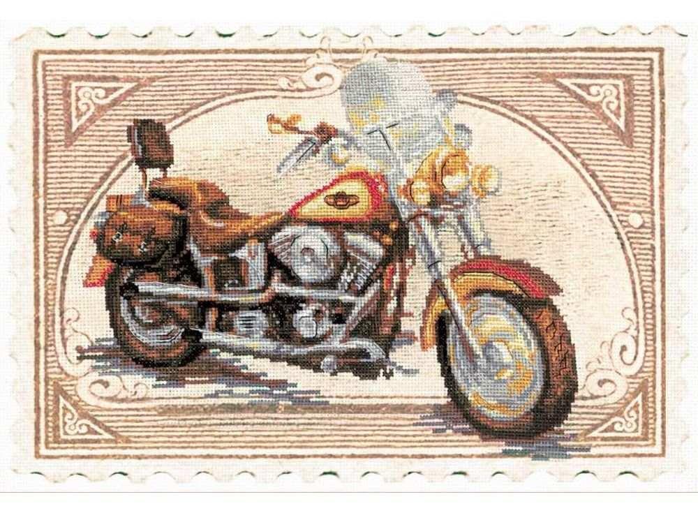 Набор для вышивания «Harley-Davidson»Вышивка крестом Риолис<br><br><br>Артикул: 0032 РТ<br>Основа: канва 14 Aida Zweigart<br>Размер: 38х26 см<br>Техника вышивки: счетный крест<br>Серия: Риолис (Сотвори Сама)<br>Тип схемы вышивки: Цветная схема<br>Цвет канвы: Нанесенный фон<br>Количество цветов: 17<br>Художник, дизайнер: Алина Мелентьева<br>Заполнение: Частичное<br>Рисунок на канве: нанесён фон<br>Техника: Вышивка крестом
