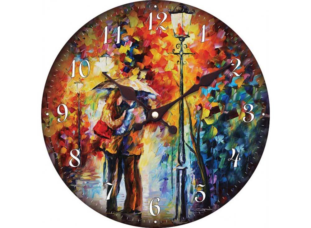 Часы настенные «Поцелуй под дождем»Дизайнерские настенные часы<br><br><br>Артикул: 004-CL<br>Размер: 34 см (диаметр)