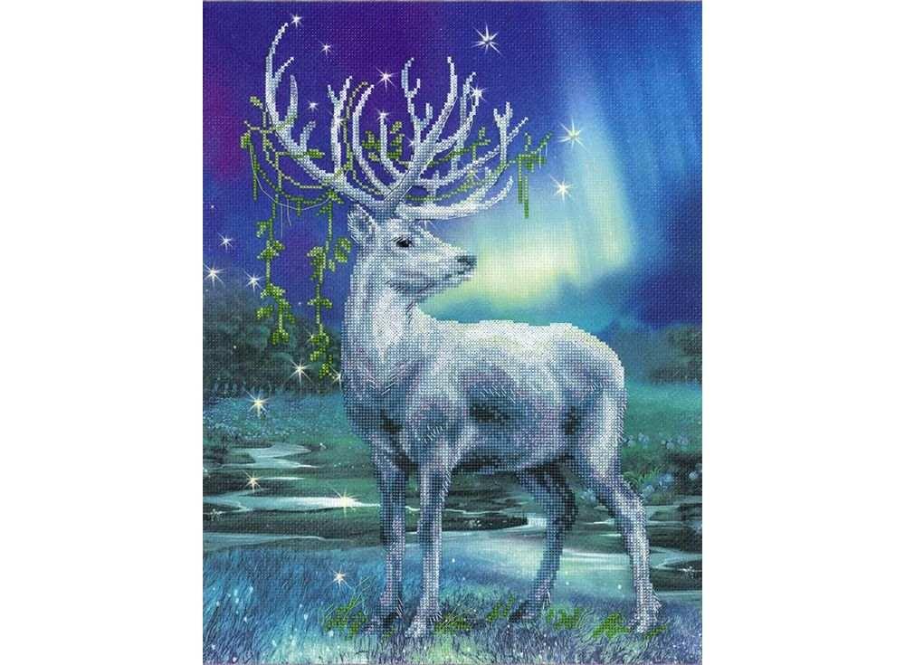 Купить Вышивка крестом, Набор для вышивания «Белый олень», Риолис (Сотвори Сама), 30x40 см, 0043 РТ