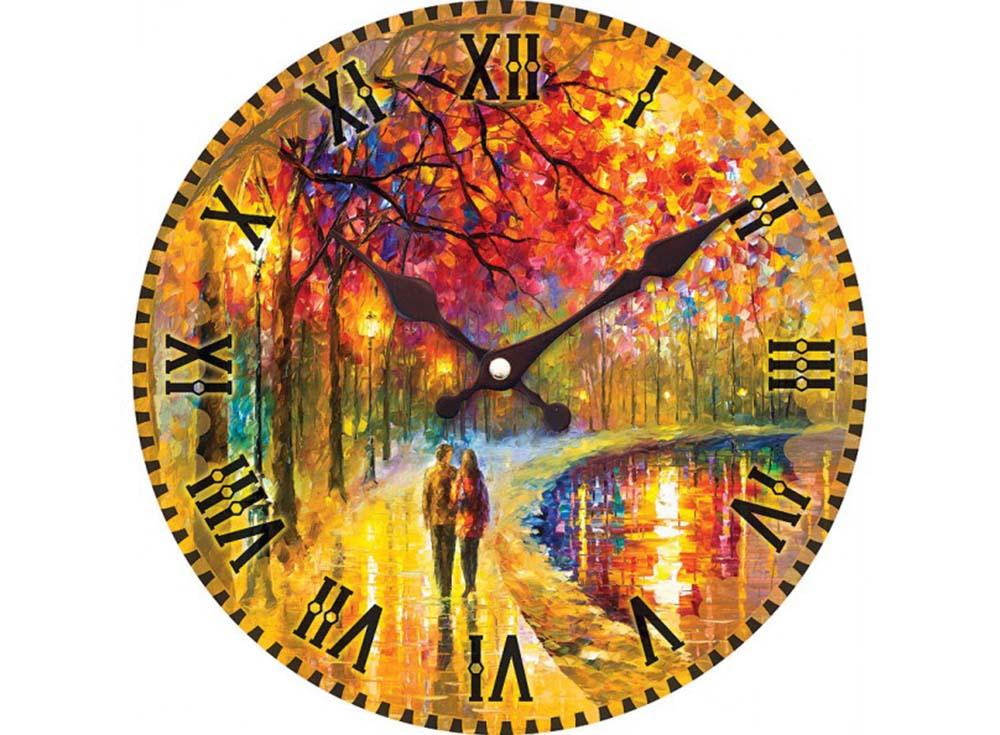 Часы настенные «Пара у озера»Дизайнерские настенные часы<br><br><br>Артикул: 006-CL<br>Размер: 34 см (диаметр)