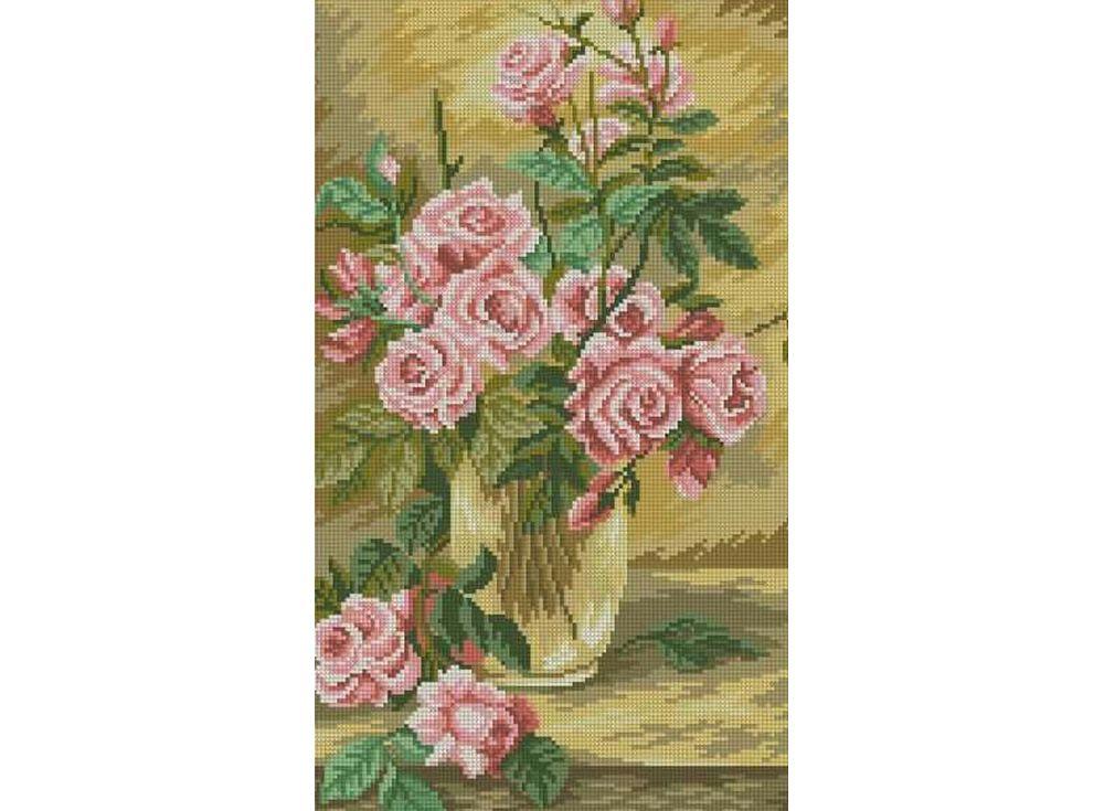 Набор для вышивания «Розы в вазе»Color KIT<br><br><br>Артикул: 0302<br>Основа: канва (хлопок 100%)<br>Сложность: сложные<br>Размер: 34x43 см<br>Техника вышивки: счетный крест<br>Тип схемы вышивки: Цветная схема<br>Количество цветов: 24<br>Рисунок на канве: нанесена схема<br>Техника: Вышивка крестом