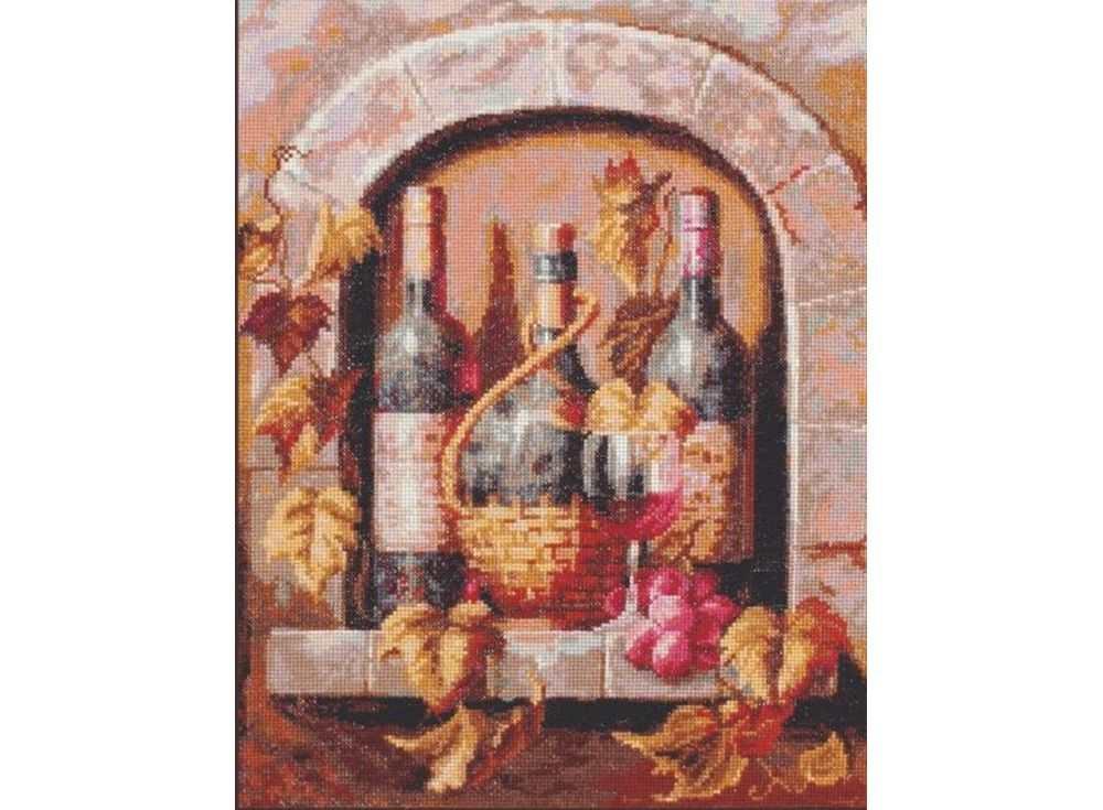 Набор для вышивания «Натюрморт с вином»Вышивка крестом Палитра<br><br><br>Артикул: 04.004<br>Основа: канва Aida 16<br>Размер: 26х32 см<br>Техника вышивки: счетный крест<br>Тип схемы вышивки: Цветная схема<br>Цвет канвы: Белый<br>Количество цветов: 28<br>Рисунок на канве: не нанесён<br>Техника: Вышивка крестом