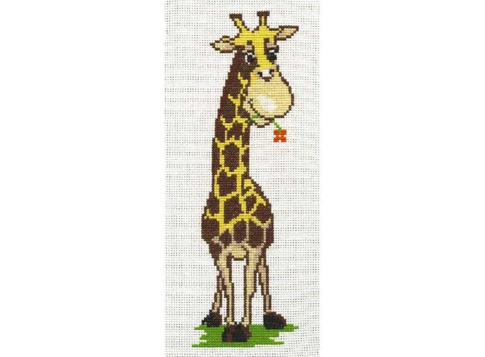 Набор для вышивания «Жирафик»Вышивка крестом Палитра<br><br><br>Артикул: 05.002<br>Основа: канва Aida 14<br>Размер: 9х25 см<br>Техника вышивки: счетный крест<br>Тип схемы вышивки: Цветная схема<br>Цвет канвы: Белый<br>Количество цветов: 9<br>Рисунок на канве: не нанесён<br>Техника: Вышивка крестом