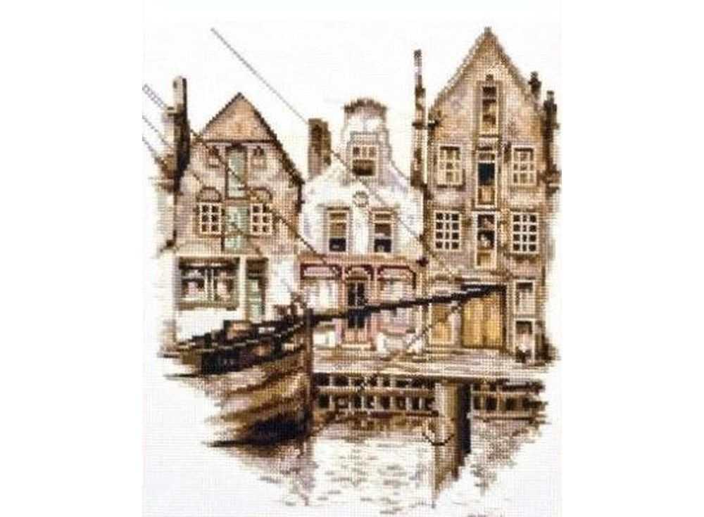 Набор для вышивания «Старый Амстердам»Вышивка крестом Палитра<br><br><br>Артикул: 08.014<br>Основа: канва Aida 14<br>Размер: 25х28 см<br>Техника вышивки: счетный крест<br>Тип схемы вышивки: Цветная схема<br>Цвет канвы: Белый<br>Количество цветов: 16<br>Рисунок на канве: не нанесён<br>Техника: Вышивка крестом