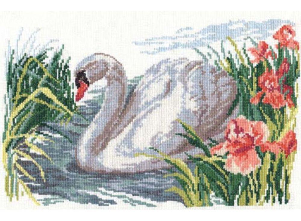 Набор для вышивания «Белый лебедь»Вышивка крестом Алиса<br><br><br>Артикул: 1-02<br>Основа: канва Aida 14 100% хлопок Gamma<br>Размер: 32x22 см<br>Тип схемы вышивки: Цветная схема<br>Цвет канвы: Белый<br>Количество цветов: 20<br>Рисунок на канве: не нанесён<br>Техника: Вышивка крестом<br>Нитки: мулине 100% хлопок Gamma