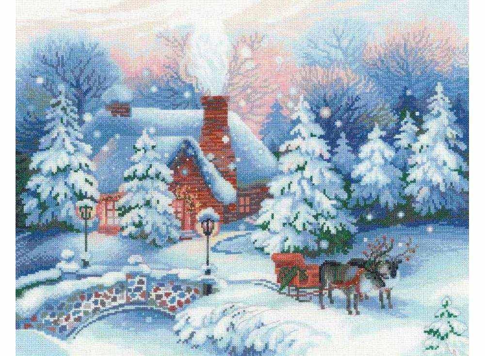 Набор для вышивания «Накануне Рождества»Вышивка крестом<br><br>