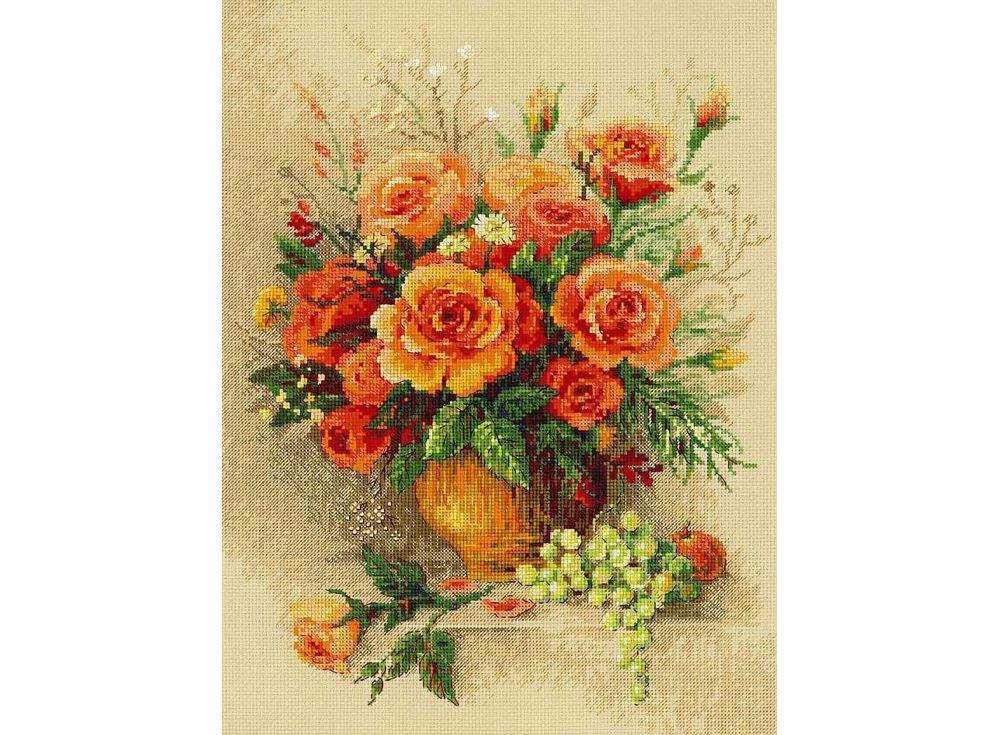 Набор для вышивания «Чайные розы»Вышивка крестом Риолис<br><br><br>Артикул: 100/049<br>Основа: канва 14 Aida Zweigart<br>Размер: 30х40 см<br>Техника вышивки: счетный крест<br>Серия: Риолис (Premium)<br>Тип схемы вышивки: Цветная схема<br>Цвет канвы: Бежевый<br>Количество цветов: 26<br>Рисунок на канве: не нанесён<br>Техника: Вышивка крестом<br>Нитки: мулине Anchor