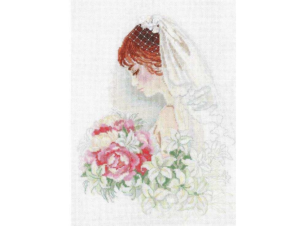 Набор для вышивания «Невеста»Вышивка крестом Риолис<br><br><br>Артикул: 100/050<br>Основа: канва 14 Aida Zweigart<br>Размер: 30х40 см<br>Техника вышивки: счетный крест<br>Серия: Риолис (Premium)<br>Тип схемы вышивки: Цветная схема<br>Цвет канвы: Белый<br>Количество цветов: 22<br>Рисунок на канве: не нанесён<br>Техника: Вышивка крестом<br>Нитки: мулине Anchor