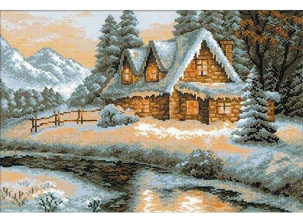 Набор для вышивания «Зимний пейзаж»Вышивка крестом Риолис<br><br><br>Артикул: 1080<br>Основа: канва 14 Aida Zweigart<br>Размер: 38х26 см<br>Техника вышивки: счетный крест<br>Серия: Риолис (Сотвори Сама)<br>Тип схемы вышивки: Цветная схема<br>Цвет канвы: Белый<br>Количество цветов: 17<br>Художник, дизайнер: Светлана Сидорова<br>Заполнение: Полное<br>Рисунок на канве: не нанесён<br>Техника: Вышивка крестом