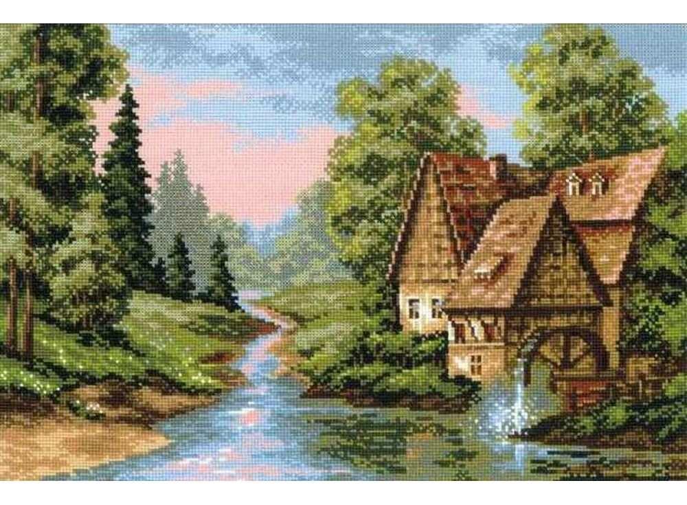Купить Вышивка крестом, Набор для вышивания «Мельница», Риолис (Сотвори Сама)