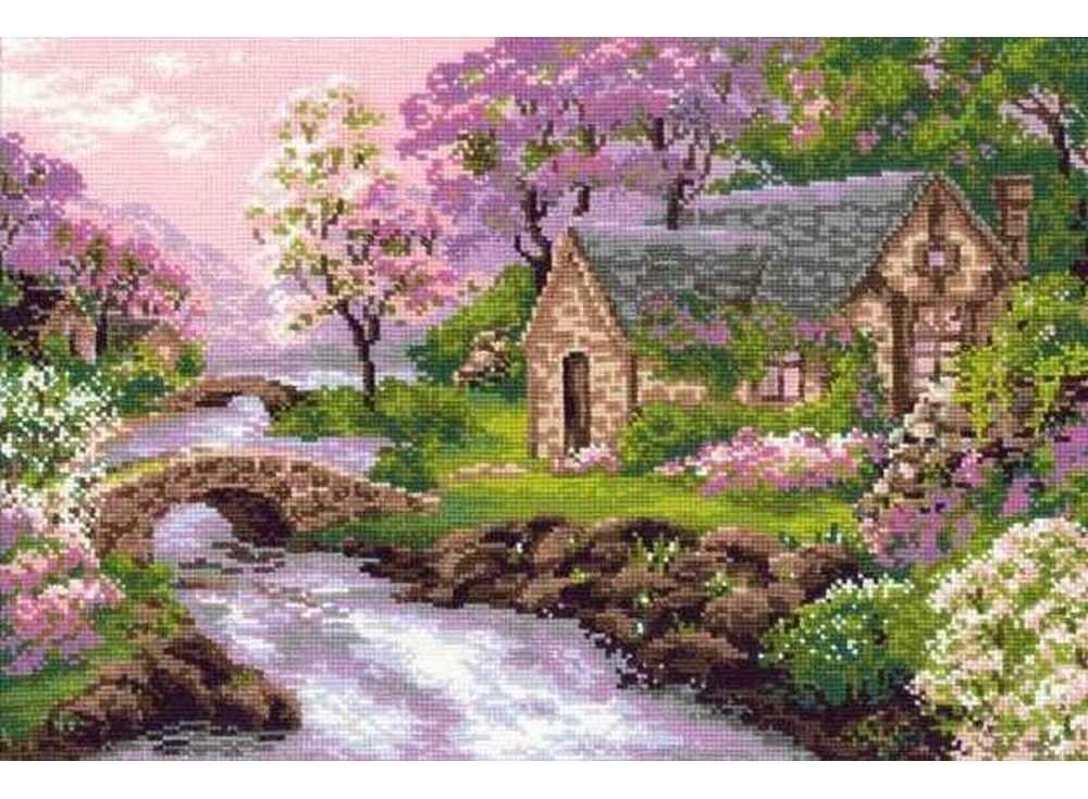 Купить Вышивка крестом, Набор для вышивания «Весенний пейзаж», Риолис (Сотвори Сама)