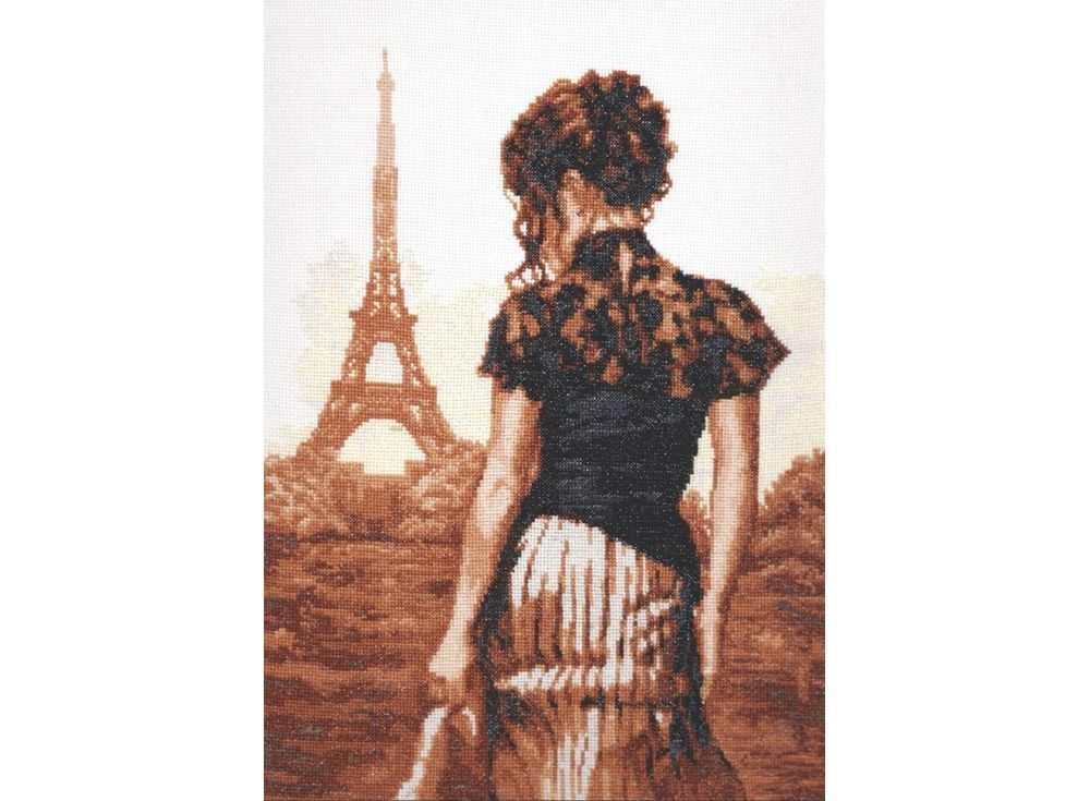 Набор для вышивания «Прогулка по Парижу»Вышивка крестом Палитра<br><br><br>Артикул: 11.002<br>Основа: канва Aida 16<br>Размер: 26х36 см<br>Техника вышивки: счетный крест<br>Тип схемы вышивки: Цветная схема<br>Цвет канвы: Белый<br>Количество цветов: 13<br>Рисунок на канве: не нанесён<br>Техника: Вышивка крестом