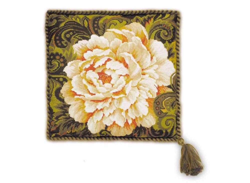 Набор для вышивания «Подушка. Белый пион»Вышивка подушек<br><br>