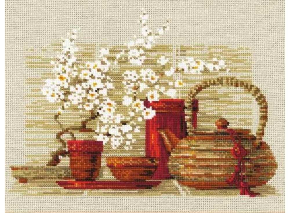 Купить Вышивка крестом, Набор для вышивания «Чай», Риолис (Сотвори Сама)